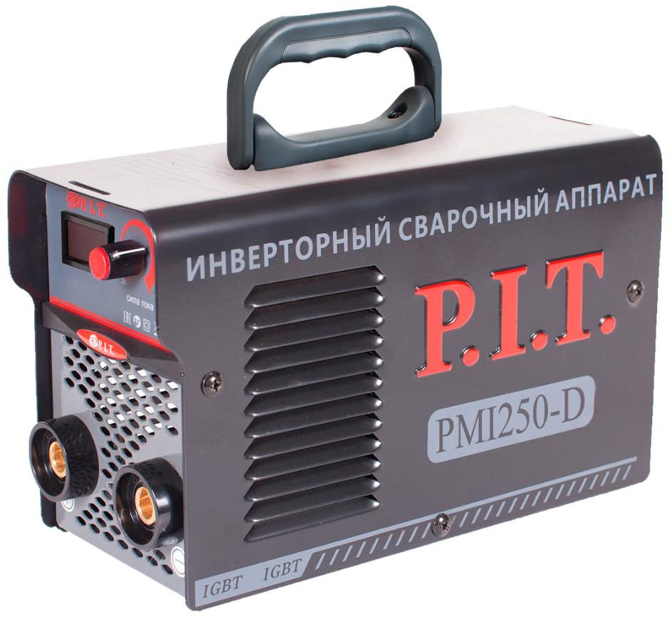 Инвертор сварочный PIT PMI250-D IGBT (250 А,ПВ-60,1,6-4 мм,от пониженного 170,гор.старт,дисплей)