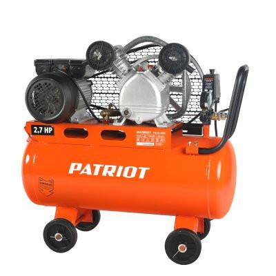 Компрессор PATRIOT PTR 50-260A, Ременной, 220В, 2 кВт, выход быстросъём, выход елочка 12 мм.