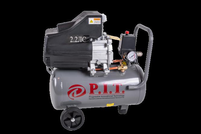 Компрессор PIT PAC24-C (1,5кВт, 2,2лс, 206 л/мин, 24л, 1 выход, европереходник, масляный) P.I.T.
