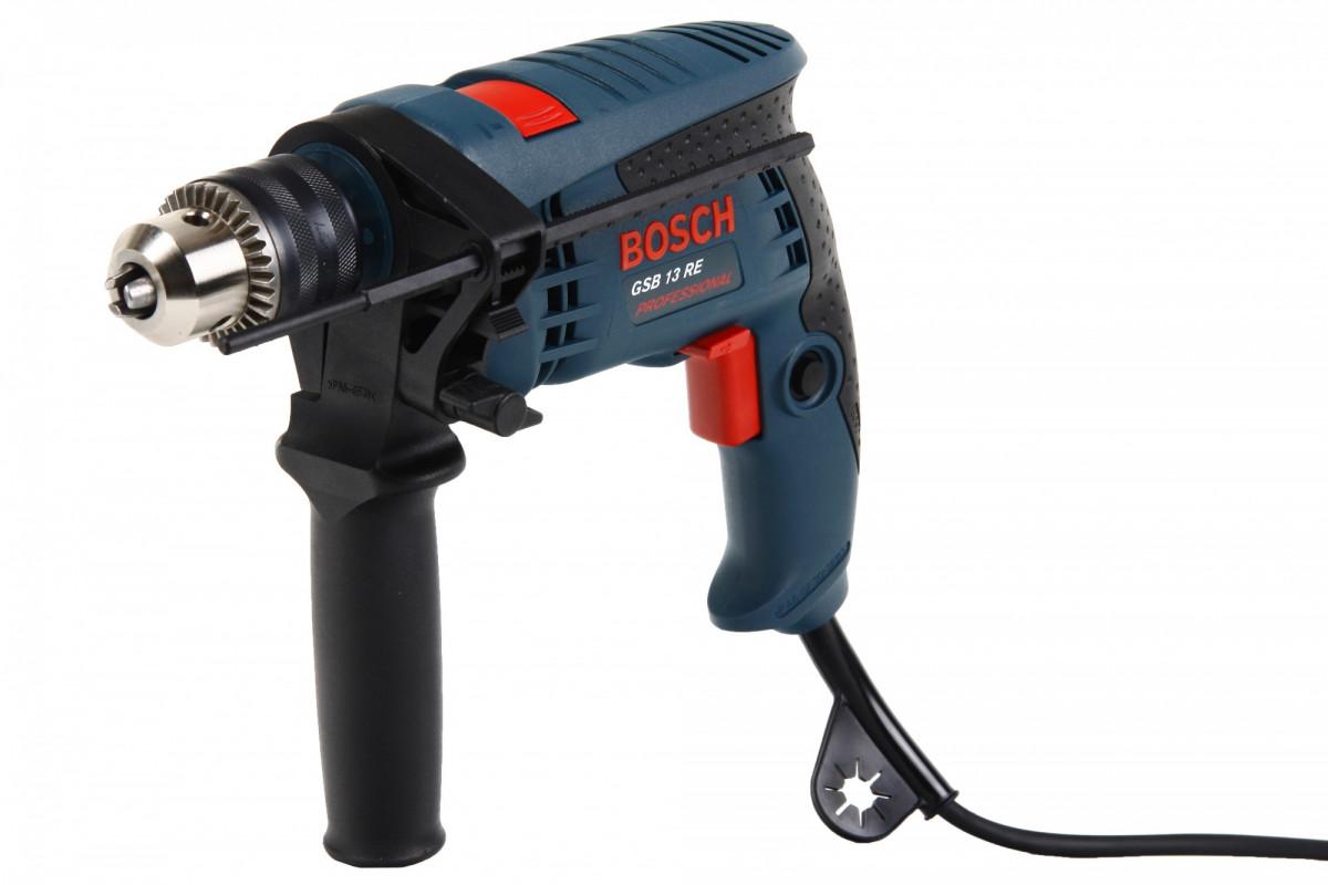 Дрель ударная Bosch GSB 13 RE (600Вт,звп,короб) 3165140483780