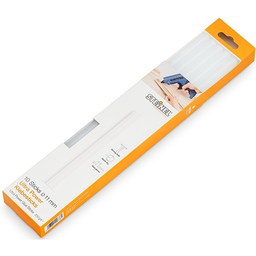 Клеевые стержни STEINEL ультра мощныее для бумаги_древесины_войлока_стекла и т.д. D=11mm/L=250mm_ 25