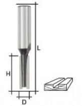 Фреза пазовая прямая с двойным лезвием, DxHxL =  8 х 20 х 58 мм