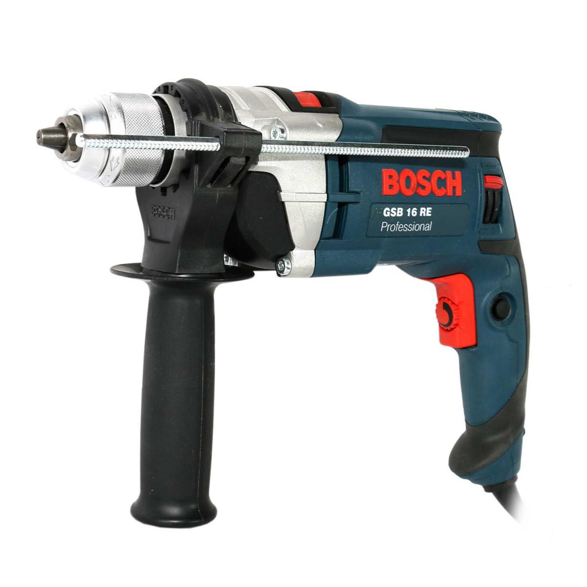 Дрель ударная  Bosch  GSB 16 RE  (750W,  реверс, бзп + кейс)  Россия  # 060114E