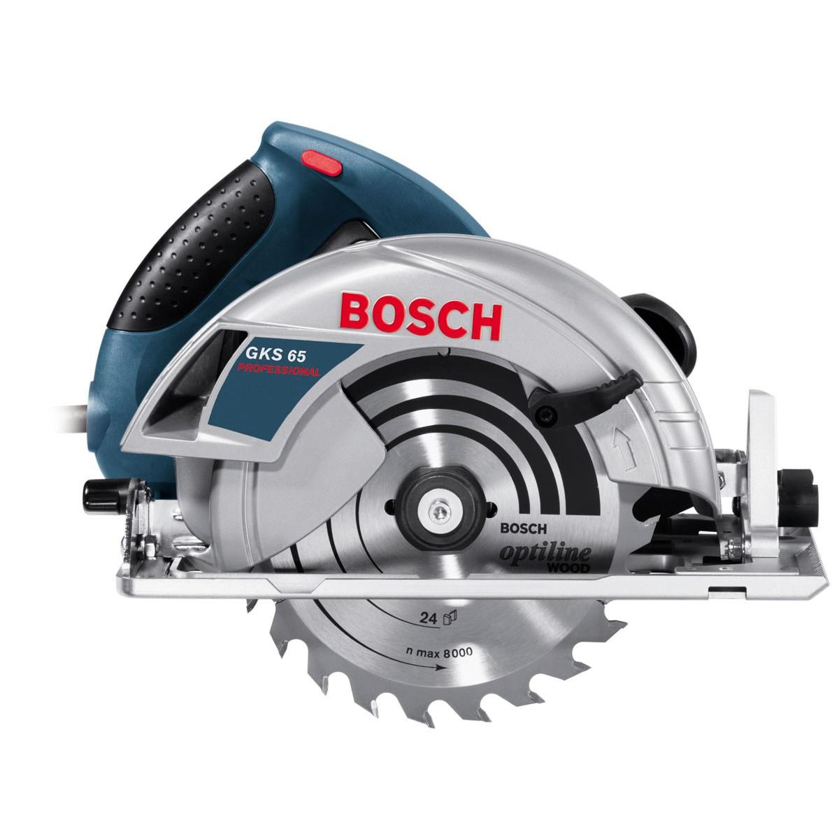 Пила дисковая Bosch  GKS 65 (1600W, 190 мм, пропил 65 мм, 4,8 кг.) 0601667000