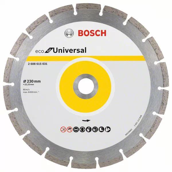 Диск алмазный Bosch ECO Universal 230-22,23 Турбо