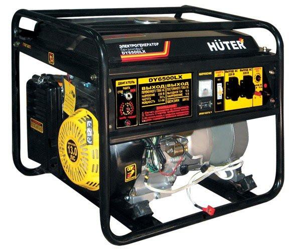 Генератор бензиновый Huter DY6500LX электростартер
