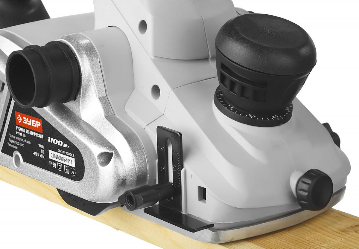 Рубанок ЗУБР [ЗР-1100-110] { электрический, глубина 3,5 мм, 16000 об/мин, 110мм,