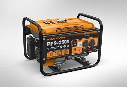 Генератор бенз. CARVER PPG- 2500 (LT-168, 2,1/2,3кВт, 220В, бак 15л)