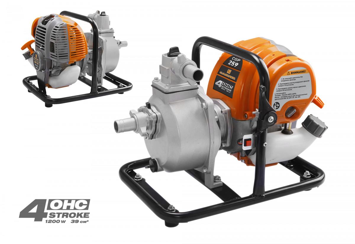 Мотопомпа Carver CGP 259 (4-х тактн., 1,2 кВт/1,6 л.с., 39 куб.см, 7 м, 150 л/мин)