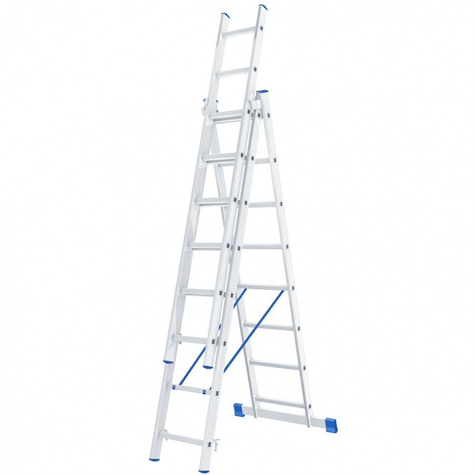 Лестница 3х 8 алюминиевая - 4,15м