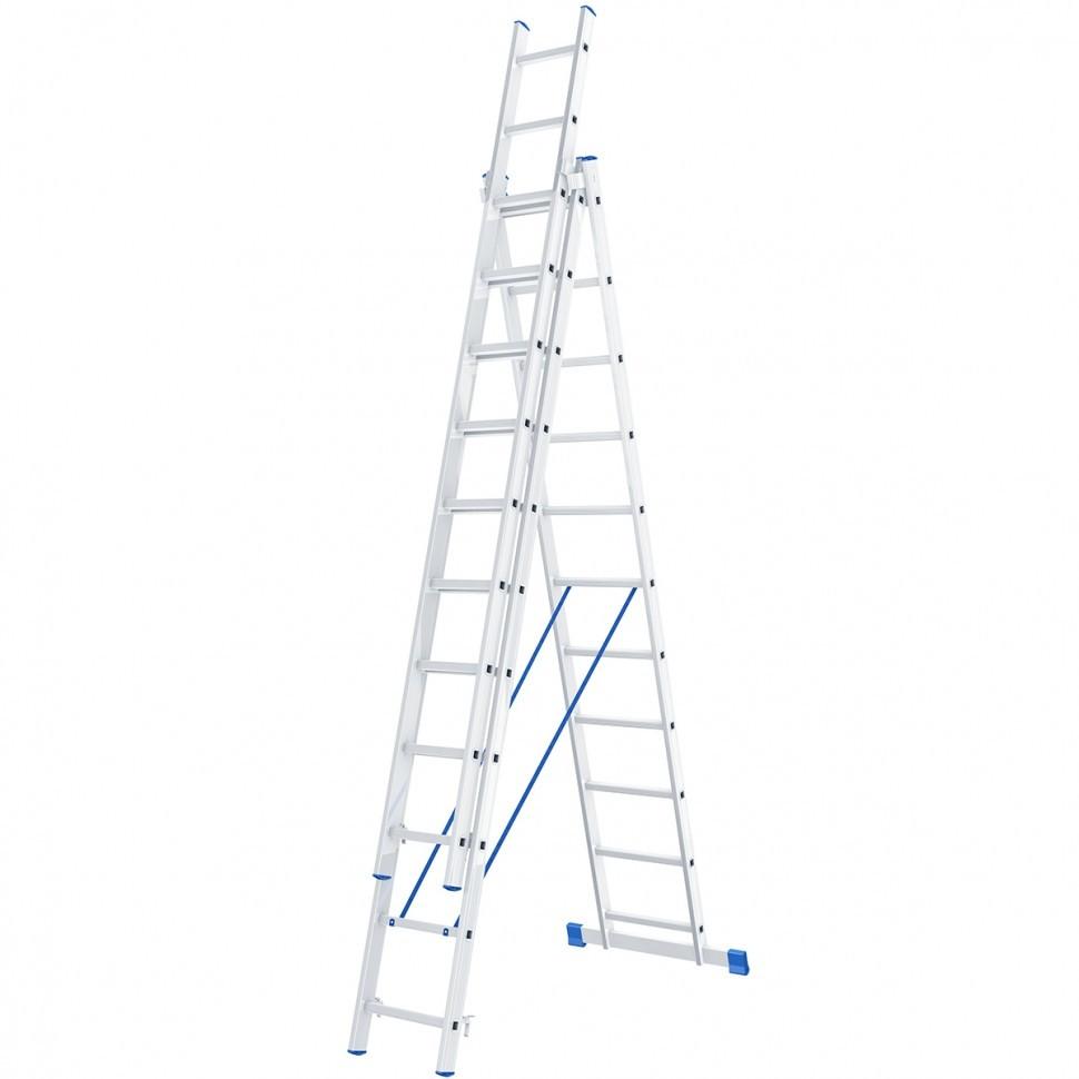 Лестница 3х11 алюминиевая- 5,55м