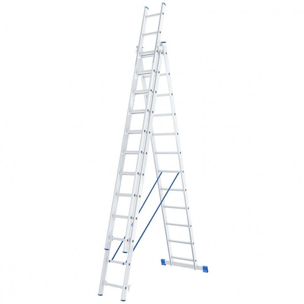 Лестница 3х12 алюминиевая - 6,1м