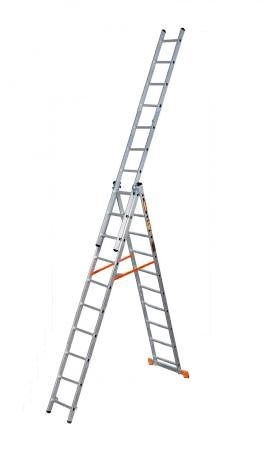 Лестница 3х14 алюминиевая - 7,5м