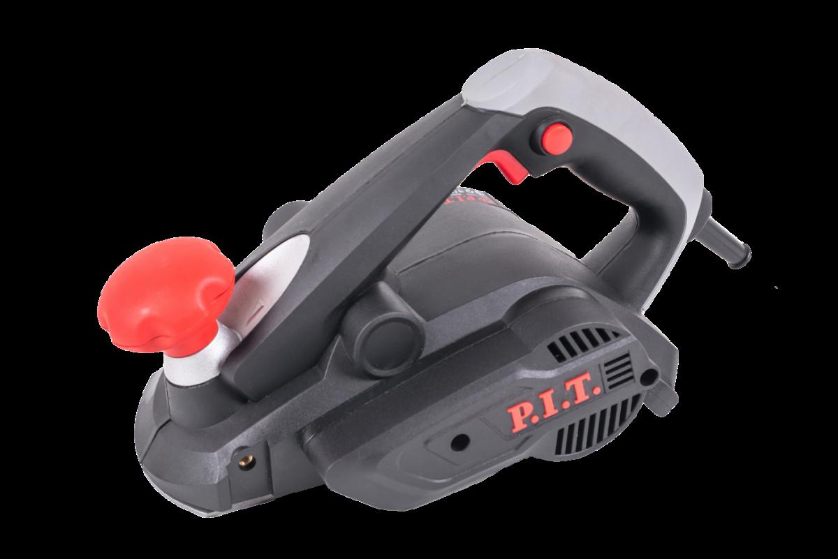Рубанок PIT PEP006L-D1 (600Вт, гл.2мм, шир.82мм, 17т/об, мешок для пыли, авт-й башмак, 3 v-обр.паза)