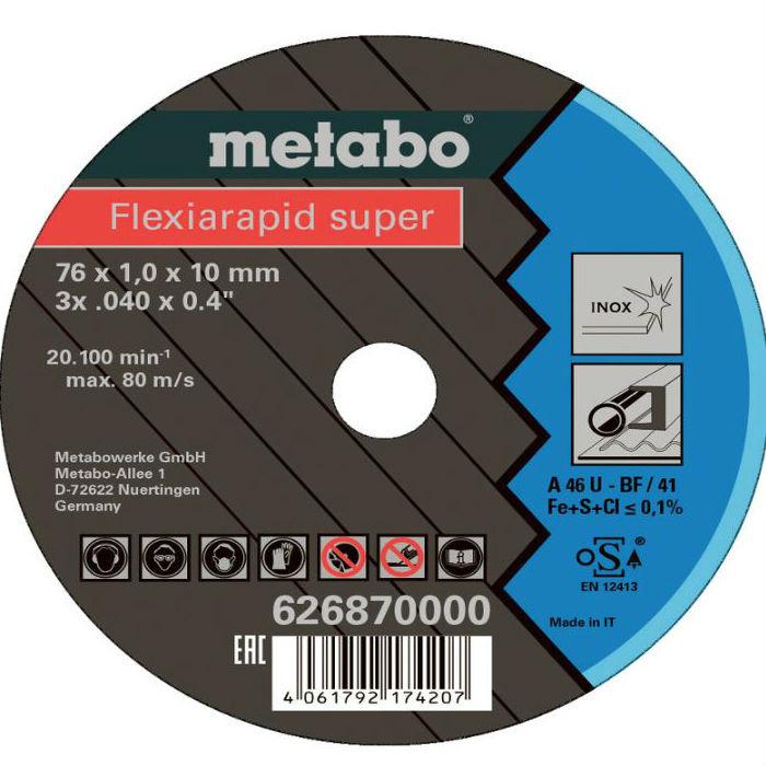 Круг отрезной Flexiarapid (5 шт; 76 мм; 1 мм) Metabo