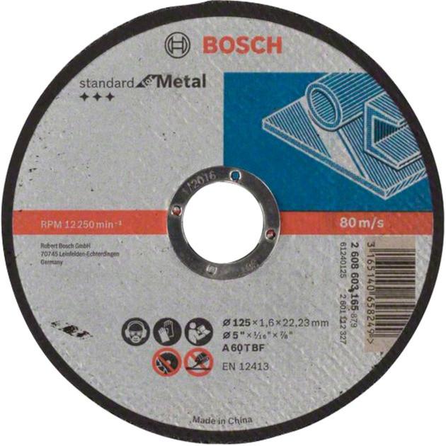 Круг отрезной по металлу BOSCH 125x1.6х22.2 мм