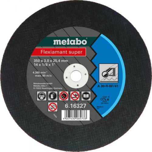 Круг отрезной 350мм Metabo сталь Flexiamant S 350x3,0x25,4 прям A36S