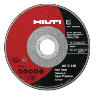 Круг отрезной по металлу 230х1,8х22 Hilti