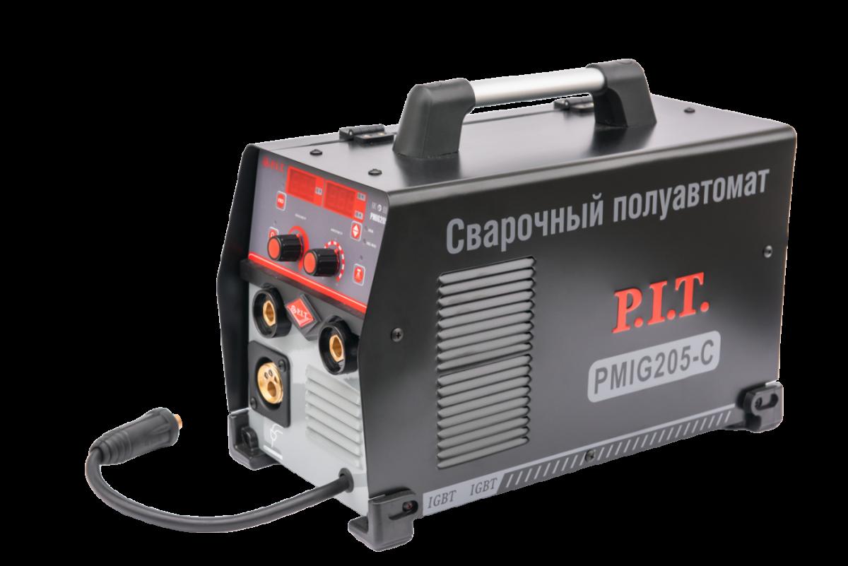 Инвертор сварочный PIT PMIG205-C (205А,ПВ-60,MMA 2,5-5мм, 6,8кВт, MIG 0,6-1мм,5,4кВт)
