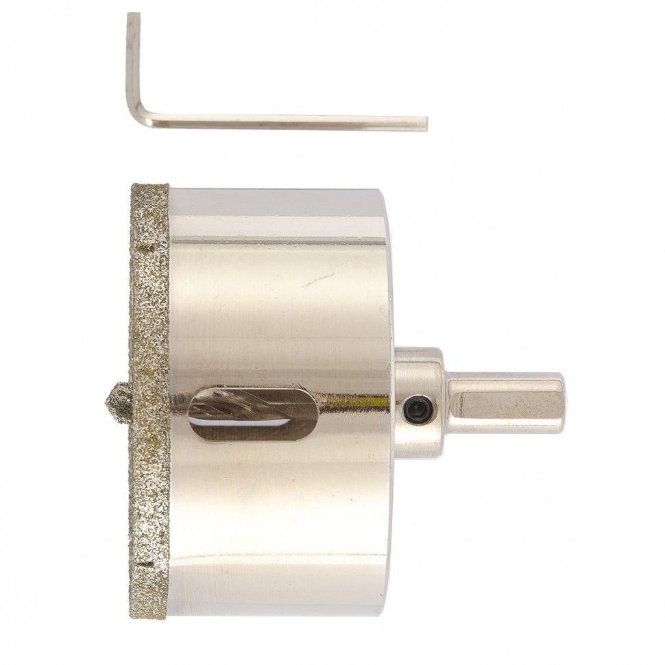 Сверло алмазное коронка по керамограниту, 70 х 67 мм, 3-гранный хвостовик// Matrix