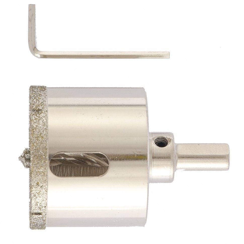 Сверло алмазное коронка по керамограниту, 50 х 67 мм, 3-гранный хвостовик// Matrix