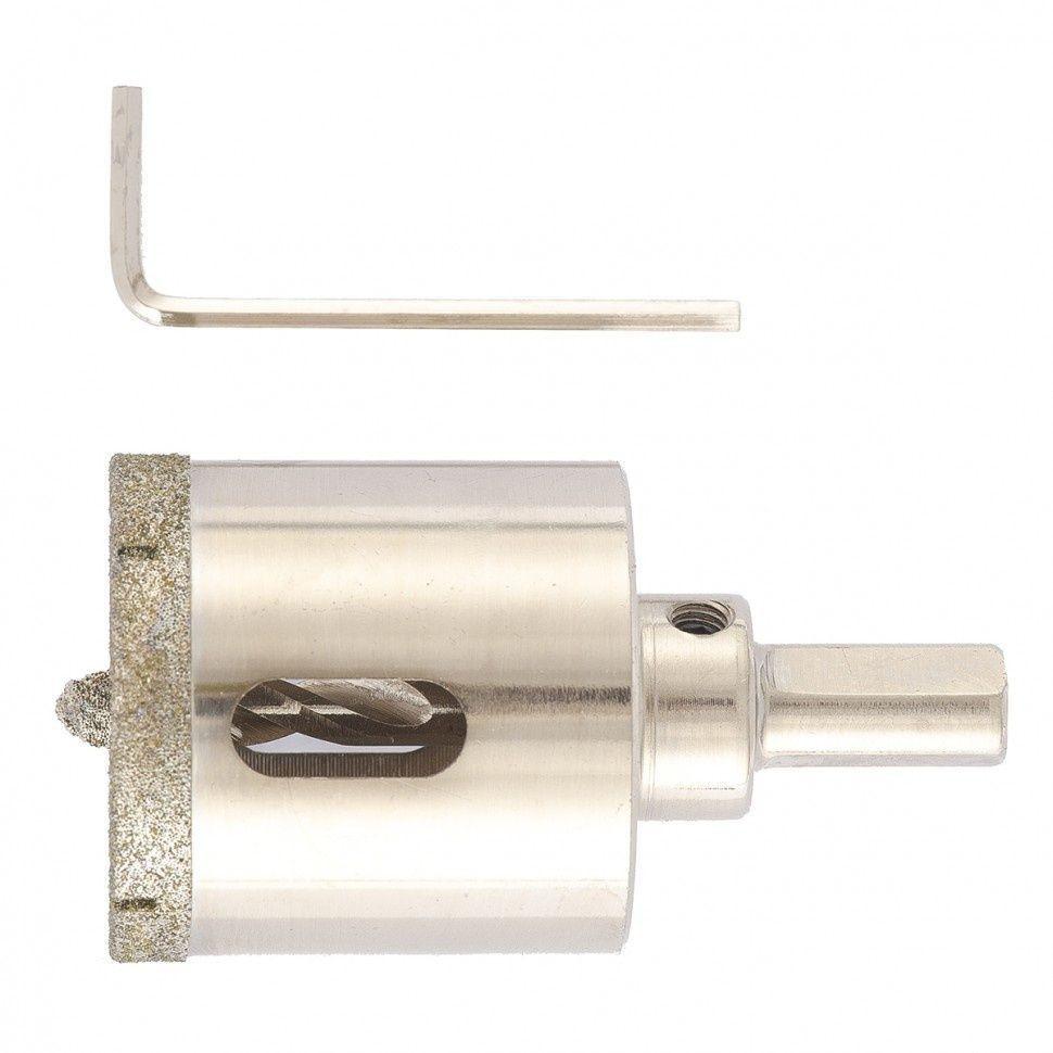 Сверло алмазное коронка по керамограниту, 40 х 67 мм, 3-гранный хвостовик// Matrix