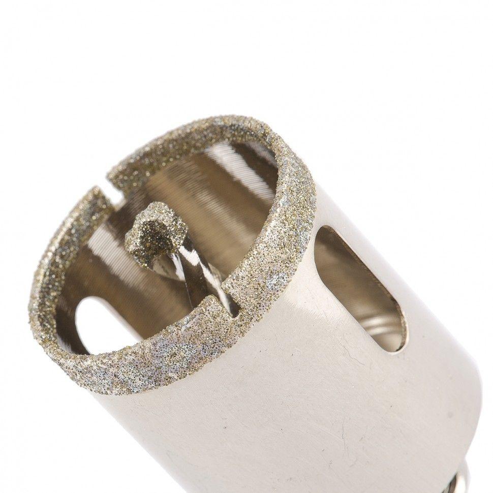 Сверло алмазное коронка по керамограниту, 35 х 67 мм, 3-гранный хвостовик// Matrix