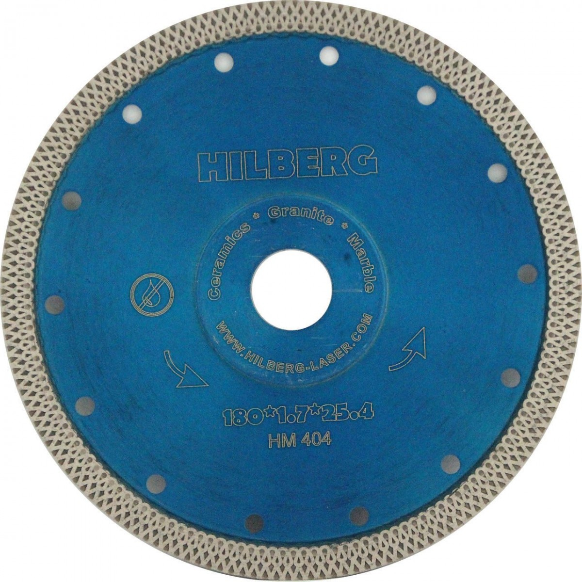 Диск алмазный Trio Diamond 180*22,23 Hilberg Турбо ультратонкий х-тип HM404