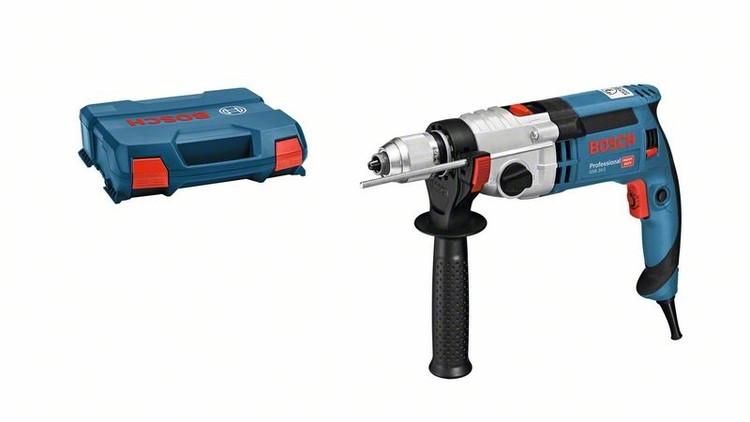 Дрель Bosch GSB 24-2 БЗП (1100Вт, 3000об/мин, 2,9кг, 3.2Нм)