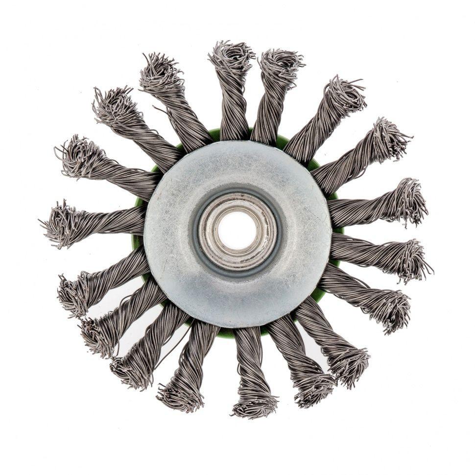 Щетка для УШМ тарелка крученая 115мм СИБТЕХ