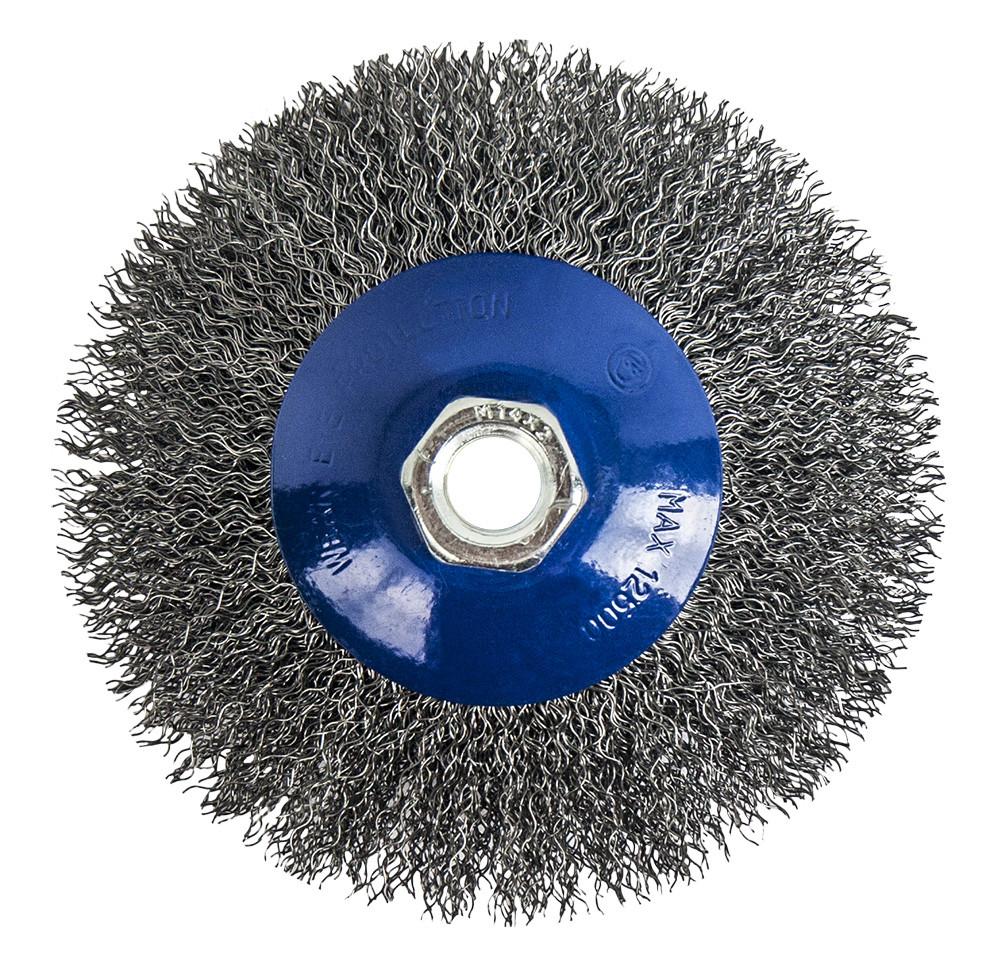 Щетка для УШМ тарелка Практика 125мм М14 мягкая (блистер)