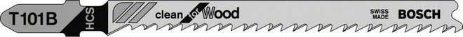 Пилки для лобзика Bosch дерево 100мм T101B (5 шт)