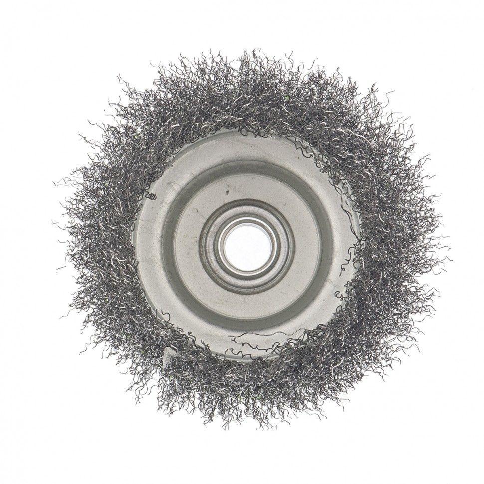 Щетка для УШМ чашка пушистая 100мм М14 СИБТЕХ 45-1-005