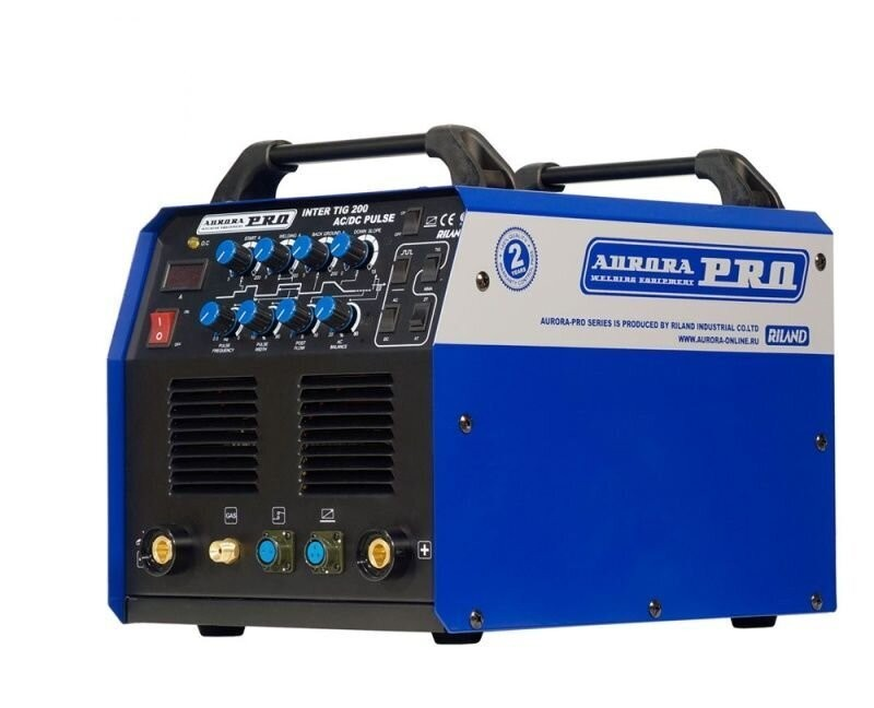 Сварочный аппарат аргонодуговой сварки INTER TIG 200 AC/DC PULSE Mosfet/Aurora-Pro (220В, TIG + MMA)