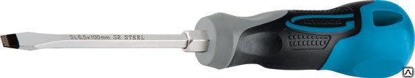 Отвертка шлиц 4.0х100мм трехкомп. ручка GROSS 12105