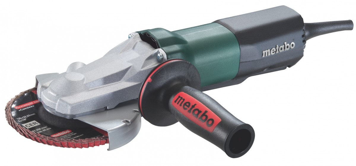 Metabo 613069000 Электронная угловая шлифмашина с плоским корпусом редуктора WEPF 9-125, 900 Вт с Protect Safety Switch