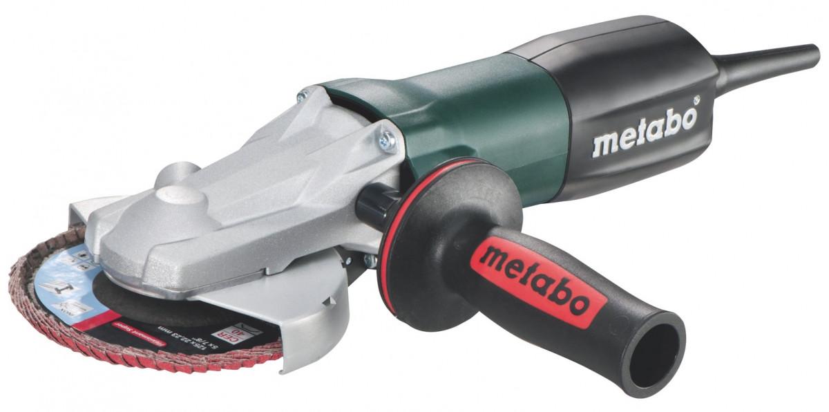 Metabo 613060000 Угловая шлифмашина с электроникой и плоской головкой WEF 9-125 Quick, 910 Вт
